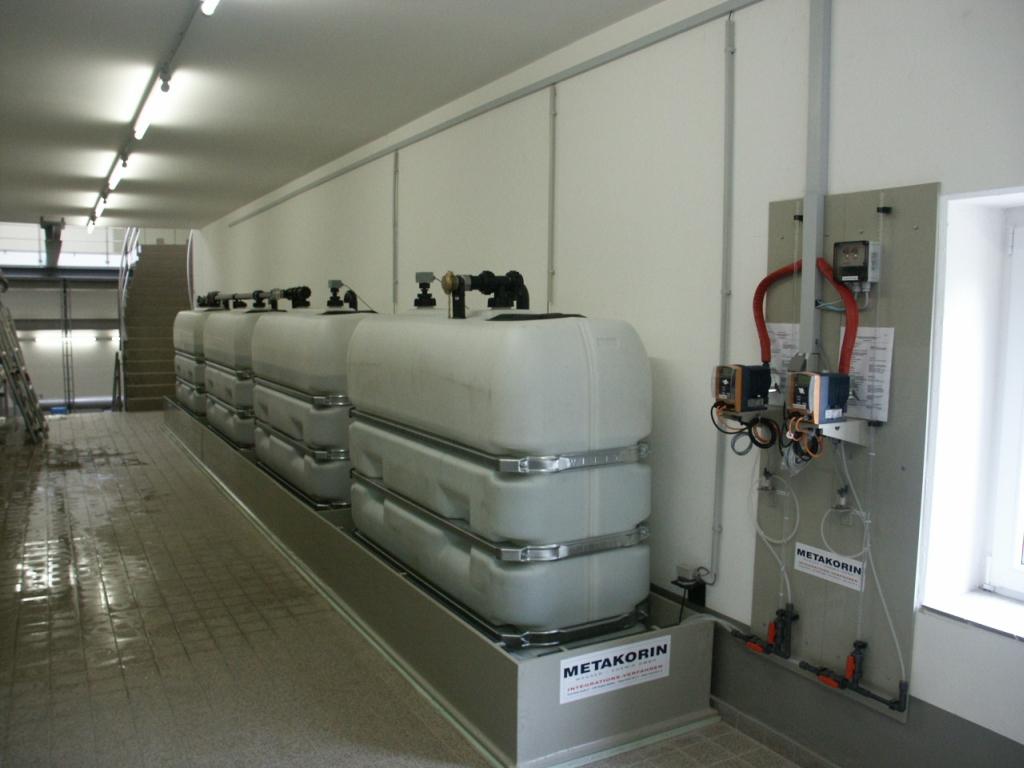 Inhibitierungsanlage zur Härtestabilisierung im Wasserwerk Lechtingen