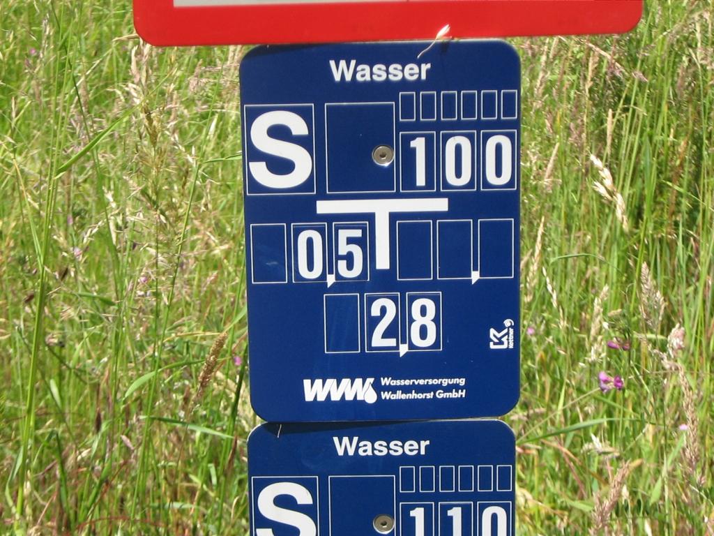 Streckenschieber-Hinweisschild