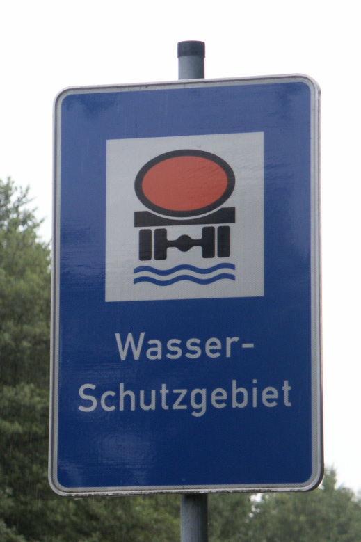 Beschilderung Wasserschutzgebiet