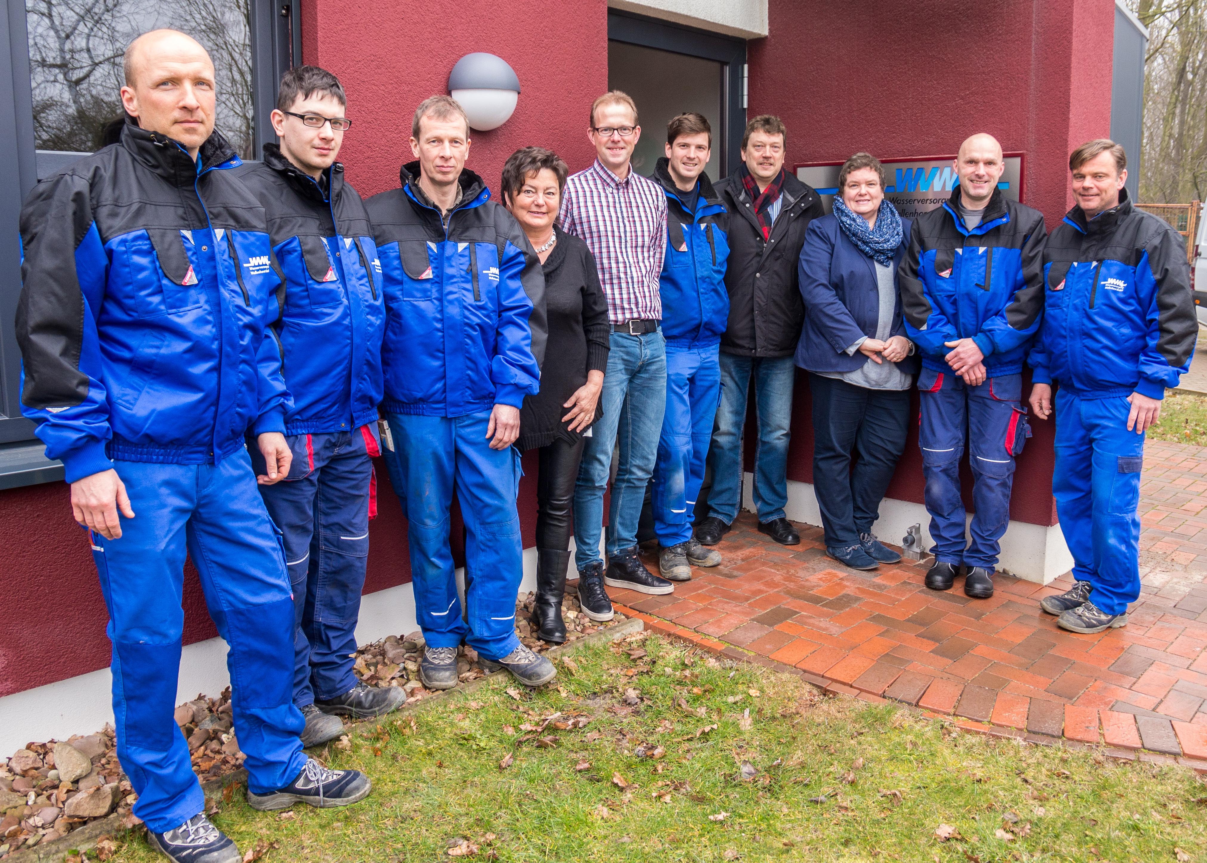 Das Team der Wasserversorgung Wallenhorst GmbH