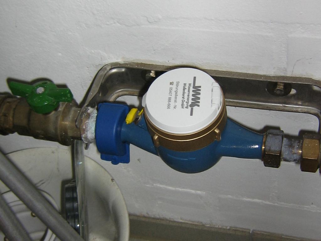 Eingebauter Wasserzähler